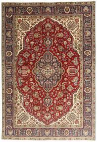 Tabriz Matto 197X295 Itämainen Käsinsolmittu Tummanpunainen/Vaaleanruskea (Villa, Persia/Iran)