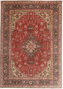 Tabriz Matto 200X290 Itämainen Käsinsolmittu Tummanpunainen/Ruskea (Villa, Persia/Iran)