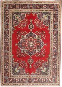 タブリーズ 絨毯 207X290 オリエンタル 手織り 深紅色の/茶 (ウール, ペルシャ/イラン)