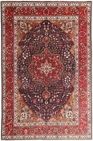Tabriz Matto 207X315 Itämainen Käsinsolmittu Tummanpunainen/Ruskea (Villa, Persia/Iran)