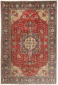 Tabriz Rug 200X297 Authentic  Oriental Handknotted Dark Brown/Dark Red (Wool, Persia/Iran)