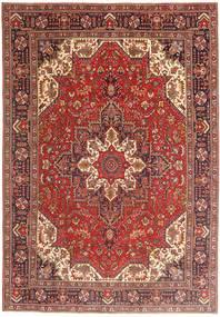 Tabriz Alfombra 198X288 Oriental Hecha A Mano Rojo Oscuro/Óxido/Roja (Lana, Persia/Irán)