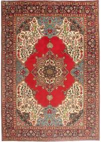 Tabriz Tæppe 202X290 Ægte Orientalsk Håndknyttet Mørkerød/Mørkebrun (Uld, Persien/Iran)