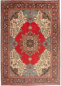 Tabriz Matta 202X290 Äkta Orientalisk Handknuten Brun/Ljusbrun (Ull, Persien/Iran)