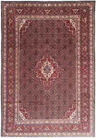 Moud Teppich 215X308 Echter Orientalischer Handgeknüpfter Dunkelrot/Lila (Wolle/Seide, Persien/Iran)