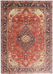 Tabriz Rug 200X280 Authentic  Oriental Handknotted Dark Red/Brown (Wool, Persia/Iran)