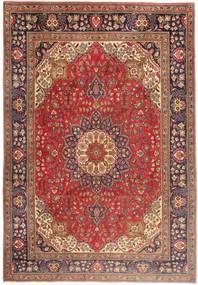 Tabriz Matto 199X286 Itämainen Käsinsolmittu Ruskea/Tummanpunainen (Villa, Persia/Iran)