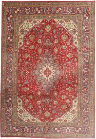 Tabriz Rug 203X298 Authentic  Oriental Handknotted Brown/Rust Red (Wool, Persia/Iran)