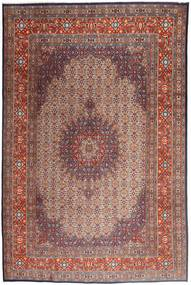 Moud Rug 208X315 Authentic  Oriental Handknotted Light Brown/Brown (Wool/Silk, Persia/Iran)