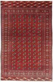 Turkaman Matto 183X284 Itämainen Käsinsolmittu Tummanpunainen (Villa, Persia/Iran)