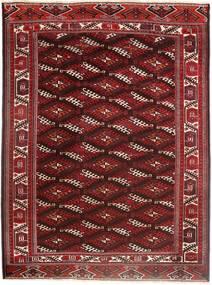 Turkaman Matta 214X294 Äkta Orientalisk Handknuten Mörkröd/Mörkbrun (Ull, Persien/Iran)
