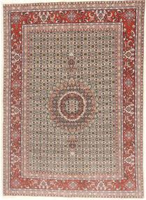 Moud Tæppe 144X200 Ægte Orientalsk Håndknyttet Lysebrun/Lyserød (Uld/Silke, Persien/Iran)