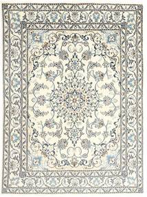Nain Rug 147X190 Authentic  Oriental Handknotted Beige/Light Grey (Wool, Persia/Iran)