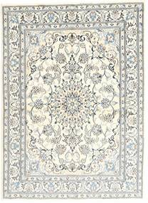 Nain Rug 147X203 Authentic  Oriental Handknotted Beige/Light Grey (Wool, Persia/Iran)