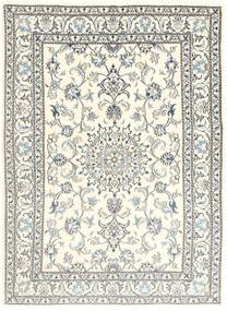 Nain Rug 153X207 Authentic  Oriental Handknotted Beige/Light Grey (Wool, Persia/Iran)