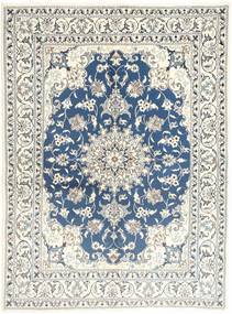 Nain Rug 150X202 Authentic Oriental Handknotted Beige/Light Grey (Wool, Persia/Iran)