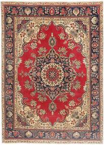 Tabriz Patina Rug 200X280 Authentic  Oriental Handknotted Light Brown/Dark Blue (Wool, Persia/Iran)