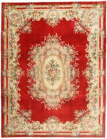 China 90 Line Rug 275X360 Authentic  Oriental Handknotted Rust Red/Dark Beige Large (Wool, China)