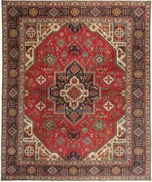 タブリーズ パティナ 絨毯 328X395 オリエンタル 手織り 深紅色の/濃い茶色 大きな (ウール, ペルシャ/イラン)