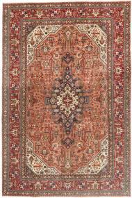 Tabriz Patina Matto 202X308 Itämainen Käsinsolmittu Tummanpunainen/Tummanruskea (Villa, Persia/Iran)