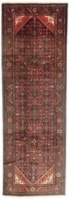 Hosseinabad Matto 110X332 Itämainen Käsinsolmittu Käytävämatto Tummanpunainen/Vaaleanruskea (Villa, Persia/Iran)