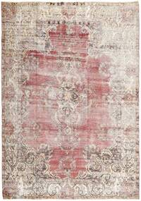 Colored Vintage Rug 205X288 Authentic  Modern Handknotted Light Grey/White/Creme (Wool, Persia/Iran)