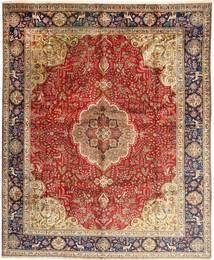 Tabriz Rug 308X380 Authentic  Oriental Handknotted Dark Red/Brown Large (Wool, Persia/Iran)
