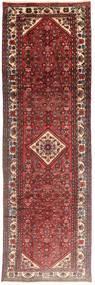 Hamadan Tapis 97X308 D'orient Fait Main Tapis Couloir Rouge Foncé/Marron (Laine, Perse/Iran)