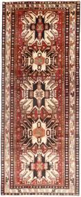 Hamadan Vloerkleed 128X330 Echt Oosters Handgeknoopt Tapijtloper Donkerrood/Beige (Wol, Perzië/Iran)
