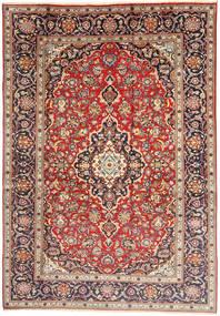 Kashan Tapis 198X292 D'orient Fait Main Marron/Gris Clair (Laine, Perse/Iran)