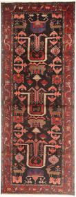 Hamadan Matto 107X297 Itämainen Käsinsolmittu Käytävämatto Ruskea/Tummanruskea (Villa, Persia/Iran)