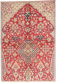 Najafabad Rug 153X230 Authentic Oriental Handknotted Rust Red/Light Brown (Wool, Persia/Iran)
