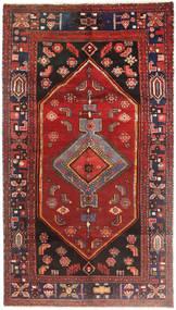 Zanjan Matto 140X265 Itämainen Käsinsolmittu Tummanpunainen/Ruskea (Villa, Persia/Iran)