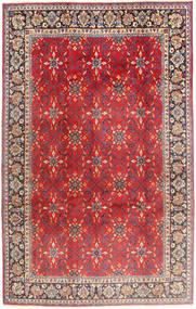 Najafabad Matta 197X307 Äkta Orientalisk Handknuten Roströd/Mörkbrun (Ull, Persien/Iran)