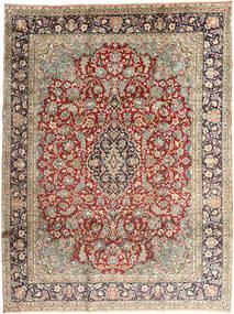Kerman Matto 237X318 Itämainen Käsinsolmittu Vaaleanruskea/Tummanharmaa (Villa, Persia/Iran)