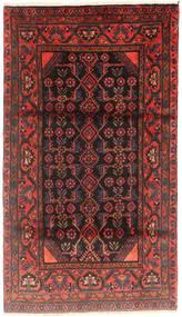 Hamadan Matto 113X200 Itämainen Käsinsolmittu Tummanpunainen/Tummanruskea (Villa, Persia/Iran)