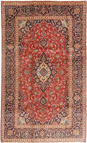 Keshan Rug 193X320 Authentic  Oriental Handknotted Rust Red/Dark Blue (Wool, Persia/Iran)