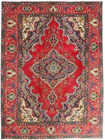 Tabriz Vloerkleed 197X265 Echt Oosters Handgeknoopt Donkerpaars/Roestkleur (Wol, Perzië/Iran)