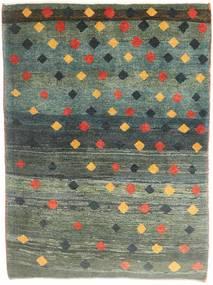 Gabbeh Persia Teppe 115X150 Ekte Moderne Håndknyttet Mørk Grønn/Mørk Grå (Ull, Persia/Iran)