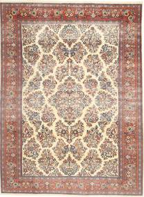 Sarouk Patina Rug 200X280 Authentic  Oriental Handknotted Beige/Dark Brown (Wool, Persia/Iran)