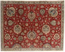 Täbriz Patina Teppich 183X230 Echter Orientalischer Handgeknüpfter Dunkelrot/Hellbraun (Wolle, Persien/Iran)