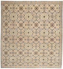 Nadżafabad Patina Dywan 262X280 Orientalny Tkany Ręcznie Kwadratowy Jasnobrązowy/Beżowy Duży (Wełna, Persja/Iran)