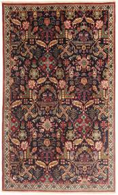 Tabriz Matto 145X243 Itämainen Käsinsolmittu Tummanpunainen/Vaaleanruskea (Villa, Persia/Iran)