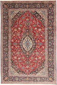 カシャン 絨毯 197X305 オリエンタル 手織り 深紅色の/濃い茶色 (ウール, ペルシャ/イラン)