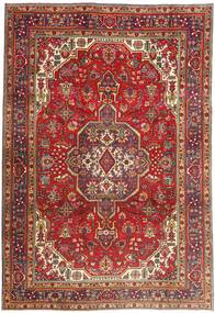Tabriz Rug 200X290 Authentic  Oriental Handknotted Dark Red/Rust Red (Wool, Persia/Iran)