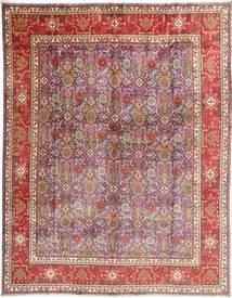 Tabriz Matta 306X390 Äkta Orientalisk Handknuten Brun/Ljusrosa Stor (Ull, Persien/Iran)
