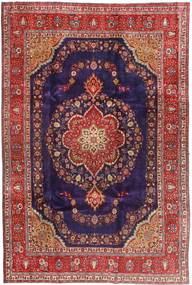 Tabriz Rug 240X358 Authentic  Oriental Handknotted Dark Purple/Brown (Wool, Persia/Iran)