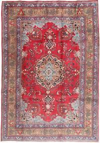 Mashad Matto 200X285 Itämainen Käsinsolmittu Tummanpunainen/Vaaleanvioletti (Villa, Persia/Iran)