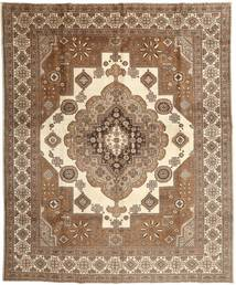 Tabriz Rug 295X368 Authentic  Oriental Handknotted Brown/Beige Large (Wool, Persia/Iran)