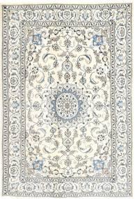Nain Dywan 192X286 Orientalny Tkany Ręcznie Beżowy/Jasnoszary (Wełna, Persja/Iran)